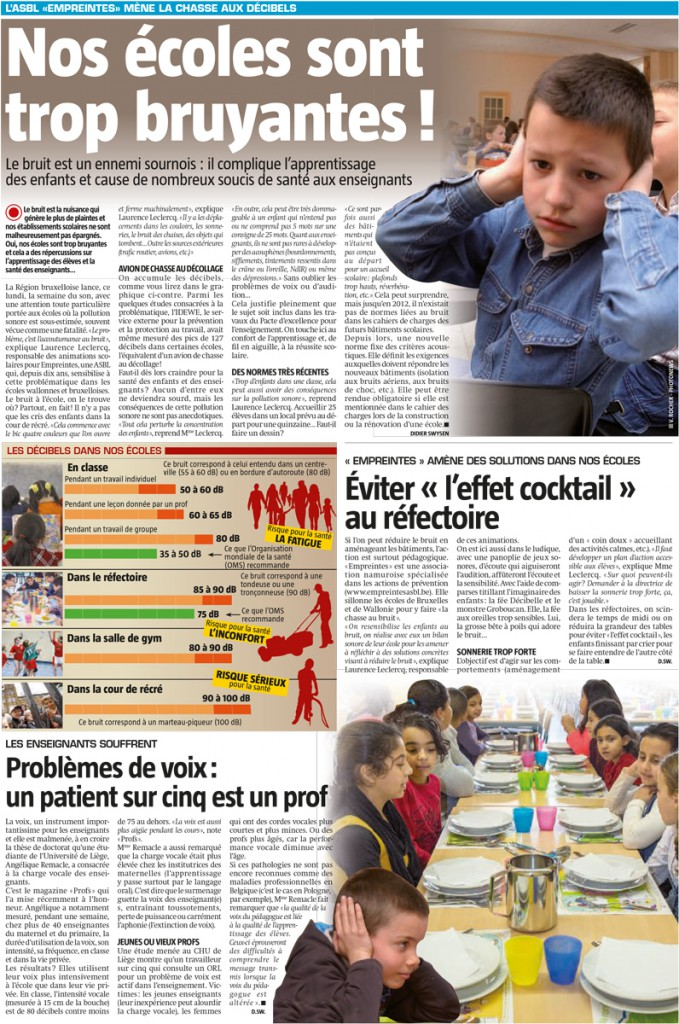Illustration de l'article du 14/09/2015 (Sudpresse)